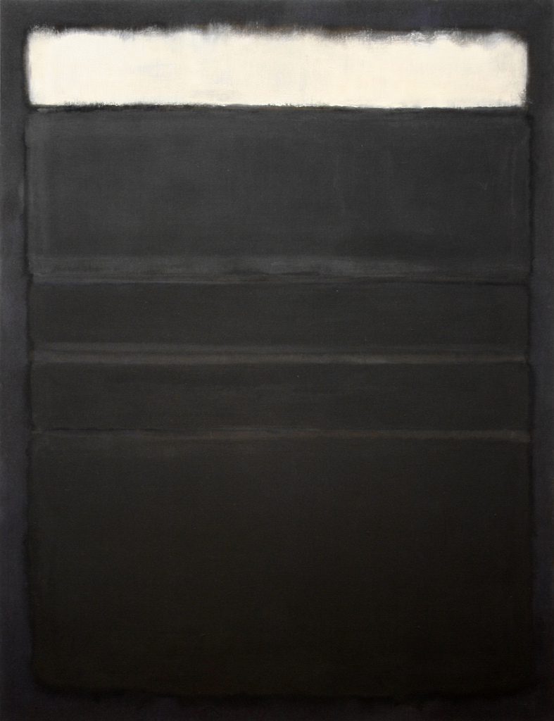 Rothko - Untitled - Whites Blacks Grays on Maroon - 1963
